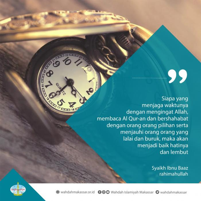 menjaga waktu