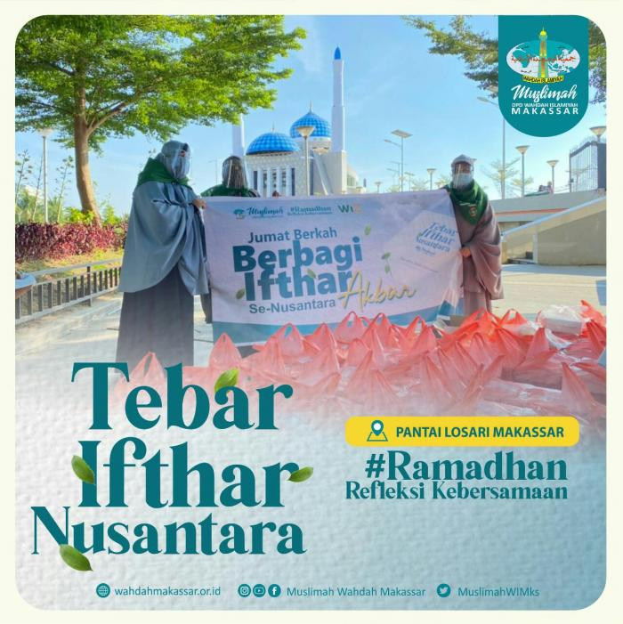 Khidmat Ummat, Muslimah Wahdah Makassar Bagikan 4407 Paket Ifthar