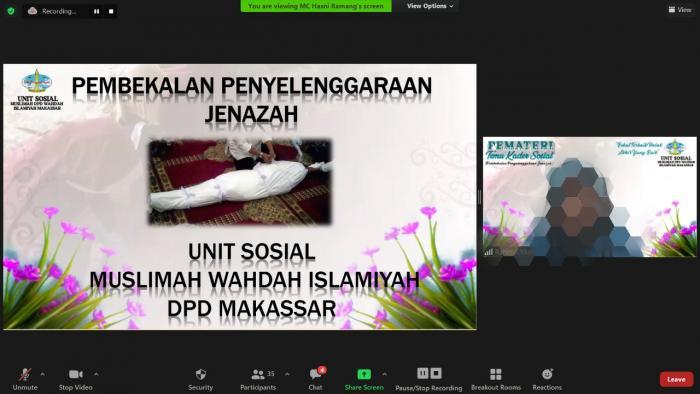 Bekali Muslimah, MWD Makassar Gelar Pembekalan Penyelenggaraan Jenazah