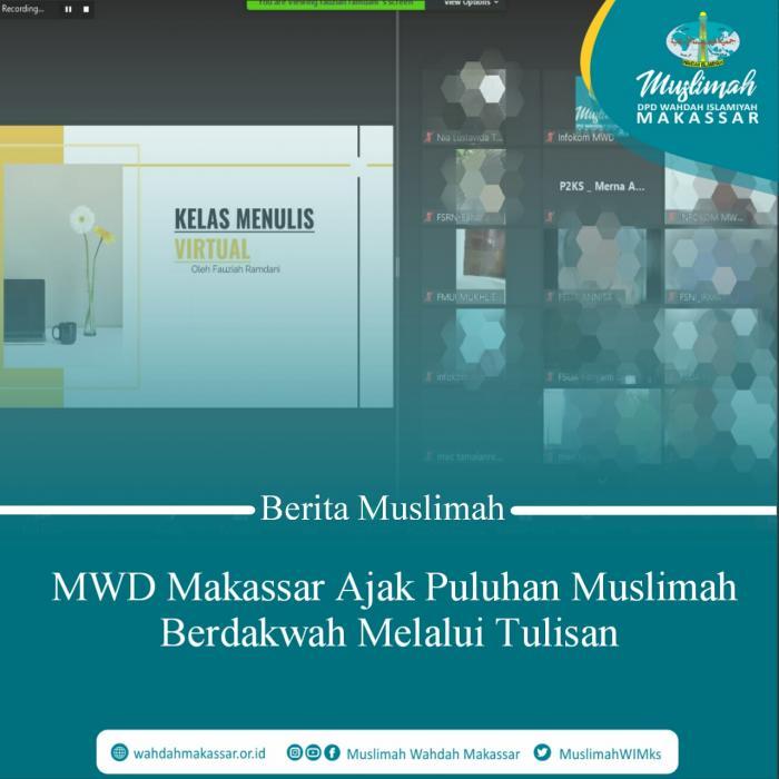 MWD Makassar Ajak Puluhan Muslimah Berdakwah Melalui Tulisan