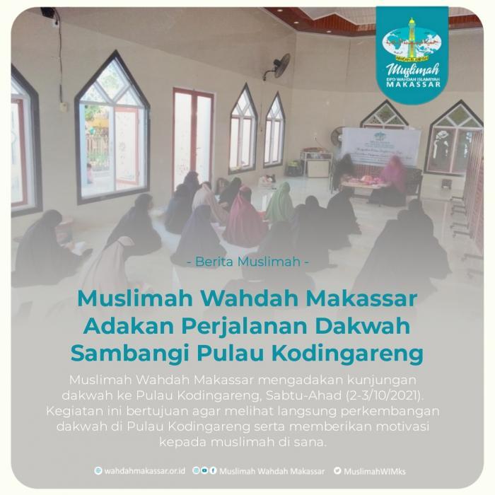 Muslimah Wahdah Makassar Adakan Perjalanan Dakwah Sambangi Pulau Kodingareng